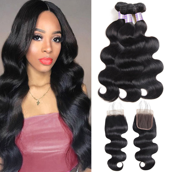 Overnight Shipping Buy 3 Bundles Body Wave Hair Get 1 Free Lace Closure USA Only : ALLOVEHAIR