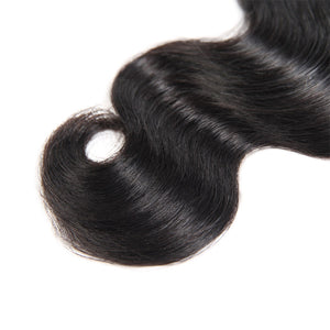 Malaysian Body Wave 3 Bundles with Lace Frontal Human Hair : ALLOVEHAIR