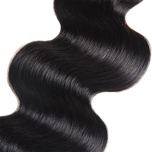 Malaysian Body Wave 4 Bundles with 4*4  Lace Closure Virgin Human Hair : ALLOVEHAIR