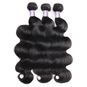 Allove Hair Peruvian Body Wave 3 Bundles Virgin Human Hair Weaves : ALLOVEHAIR