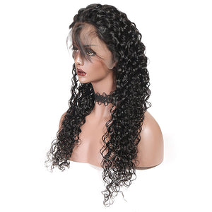 10A Remy Hair Water Wave Wig 13*4 Lace Front Human Hair Wigs : ALLOVEHAIR
