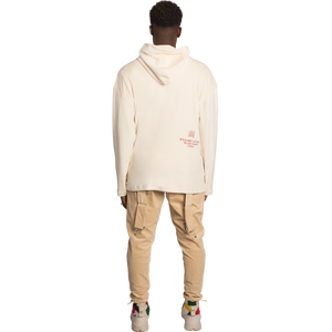 Secluded Beige Velour Hoodie