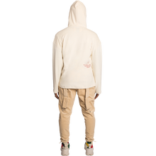 Load image into Gallery viewer, Secluded Beige Velour Hoodie