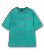 Load image into Gallery viewer, Secluded Savage Island Turqoise Hand-Dye Tee