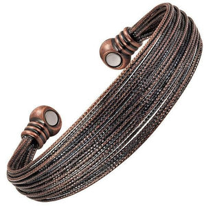 AMELIA - Antique Pure Copper Magnetic Therapy Bracelet Bangle