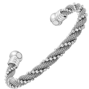 AUGUSTA - Mermaid Silver Net Magnetic Therapy Bangle Bracelet