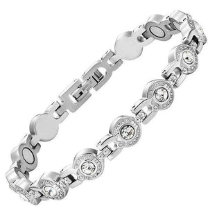 CHARLOTTE - Crystal Droplets Magnetic Therapy Bracelet