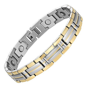OXNARD - Gold & Silver Stainless Steel Magnetic Therapy Bracelet