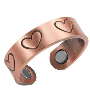 FLORIDA - Hearts Copper Magnetic Therapy Resizable Ring
