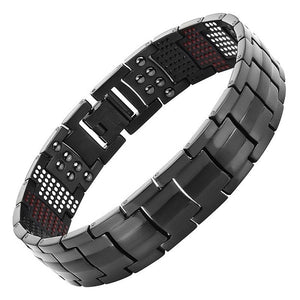 FRESNO - KNIGHT BLACK 4 Elements Magnetic Therapy Bracelet