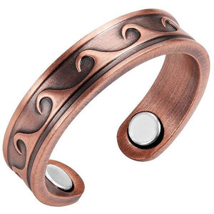 MIAMI - Wave Rider Copper Magnetic Therapy Resizable Ring