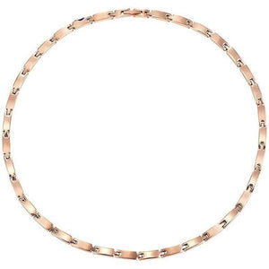 PIERRE - Rose Gold Stainless Steel Magnetic Therapy Necklace