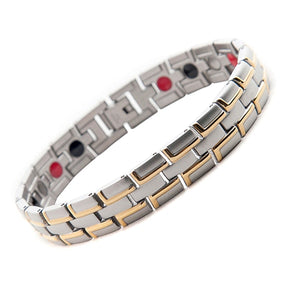 TOLEDO - Gold & Silver Stainless Steel Magnetic Therapy Bracelet
