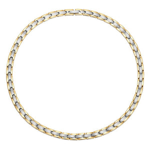 CHELSEA - Golden & Silver Magnetic Therapy Necklace