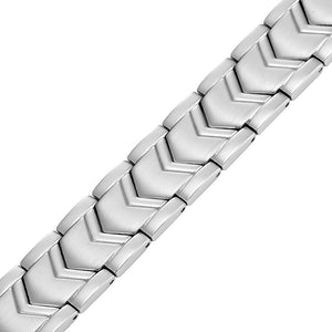 JORDAN - Silver Victory Magnetic Therapy Chain Bracelet