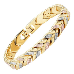 Virginia - Silver and Golden Arrows Magnetic Therapy Bracelet