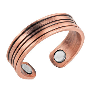 AUBREY - Classic Copper Magnetic Therapy Resizable Ring