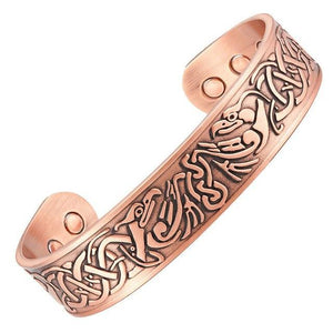 ARLINGTON - Ancient Carvings Copper Magnetic Therapy Cuff