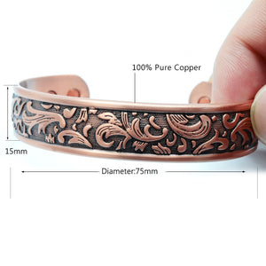 IRVING - Oriental flair Copper Magnetic Therapy Cuff