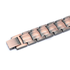 EL PASO - Brushed Strong 100% Pure Copper 4 Elements Magnetic Therapy Bracelet