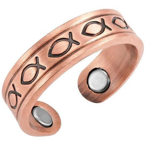 SEATTLE - Antique Copper Magnetic Therapy Resizable Ring