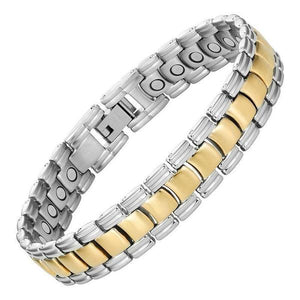 SAVANNAH - Gold & Silver Two Toned Magnetic Therapy Bracelet