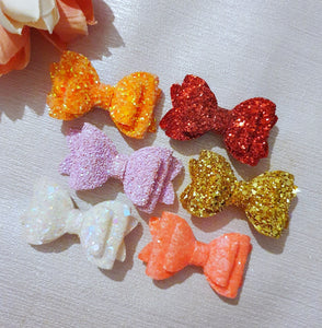 Izzy Glitter Bow (Multiple Colours)