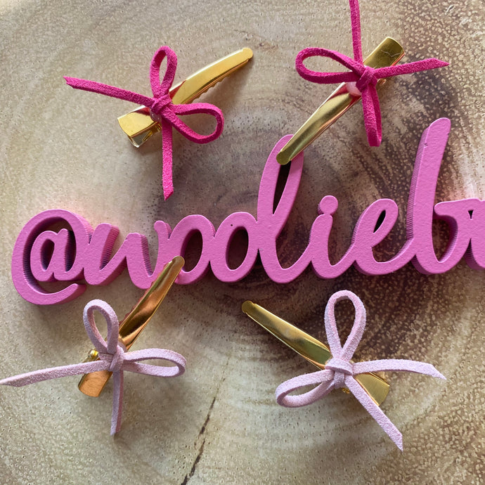 Dainty Bow Clips