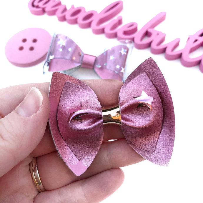 Pink Starry Pinch Bow