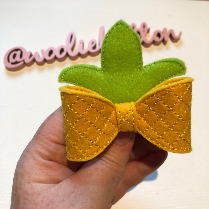 Pineapple Felt Bow