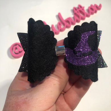 Witchy Scallop Bow Large