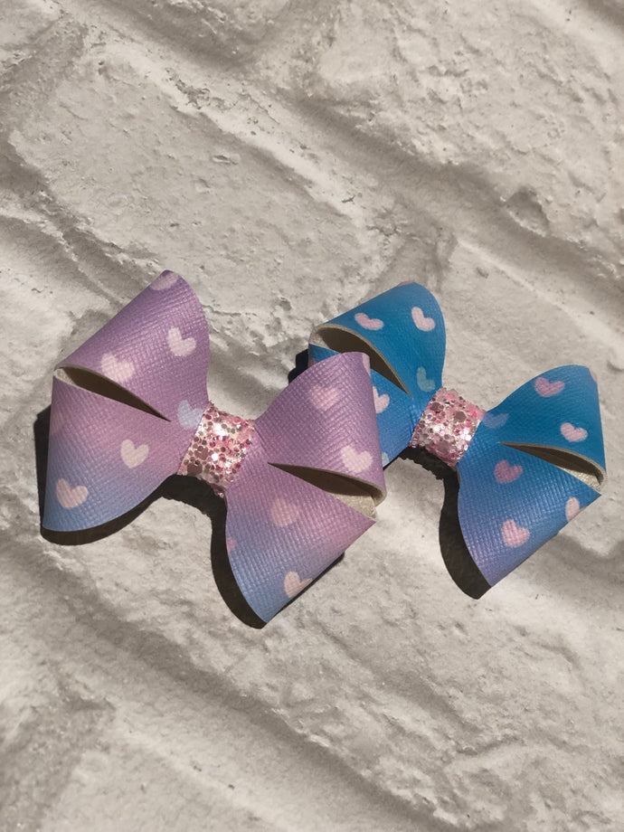 Lily Bow (in blue & purple ombré)