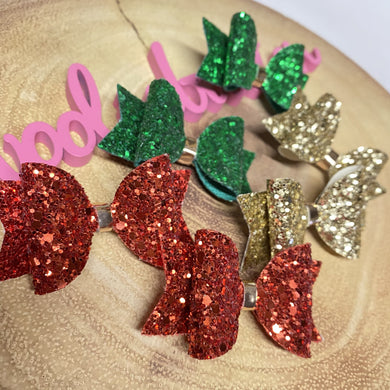 Glitter Dolly Bow (Large)