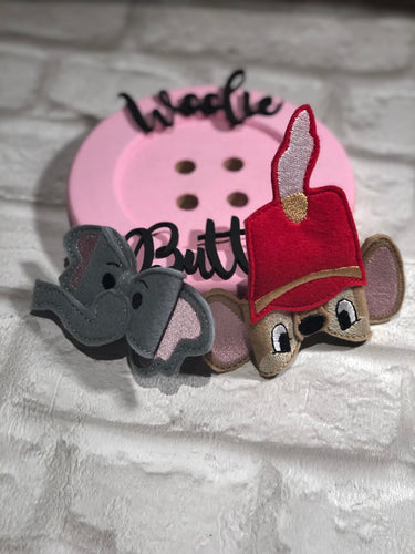 Dumbo and Timothy Mouse Felt Bows