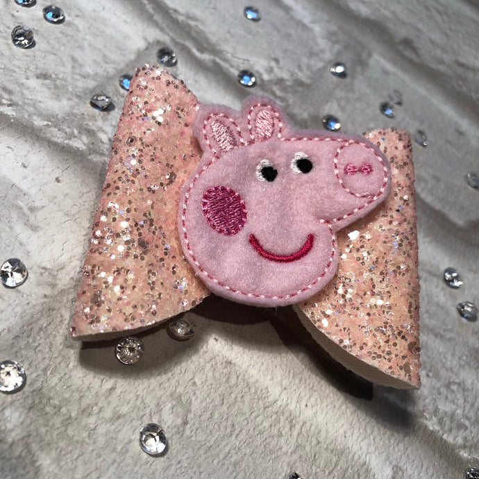 Pink Pig Bow