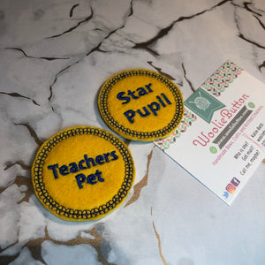 Feltie Teacher Badges