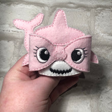 Load image into Gallery viewer, Baby Shark Bow Pink