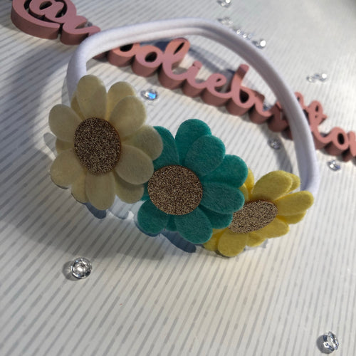 Daisy Floral Headband (Ready made)