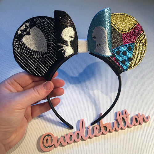 Jack and Sally (Nighmare before Christmas) ear sliders