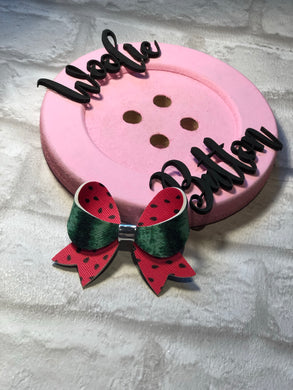 Watermelon Double Sided Loopy Bow