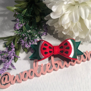Watermelon Felt Bow
