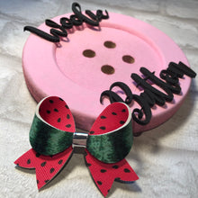 Load image into Gallery viewer, Watermelon Double Sided Loopy Bow