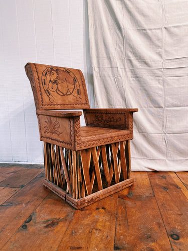 Mexican Equipale Leather Chair