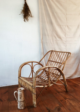 Rattan Scoop Chair