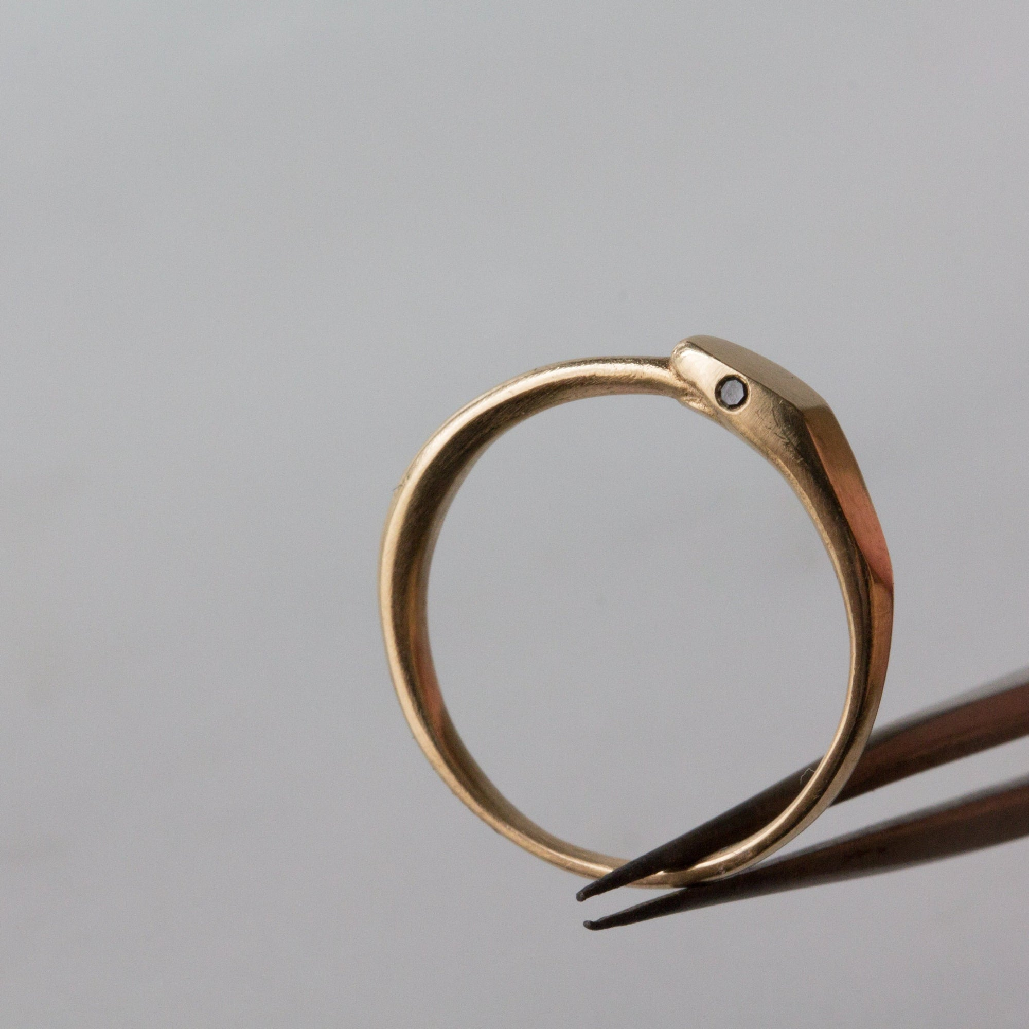 kelly star lannen, 12th house jewelry, ceremonial and celestial jewelry, sustainable jewelry, jewelry sculptor in NYC, handmade jewelry in NYC, ouroboros, snake ring, gold midi ring, bridesmaids gifts, wear with love