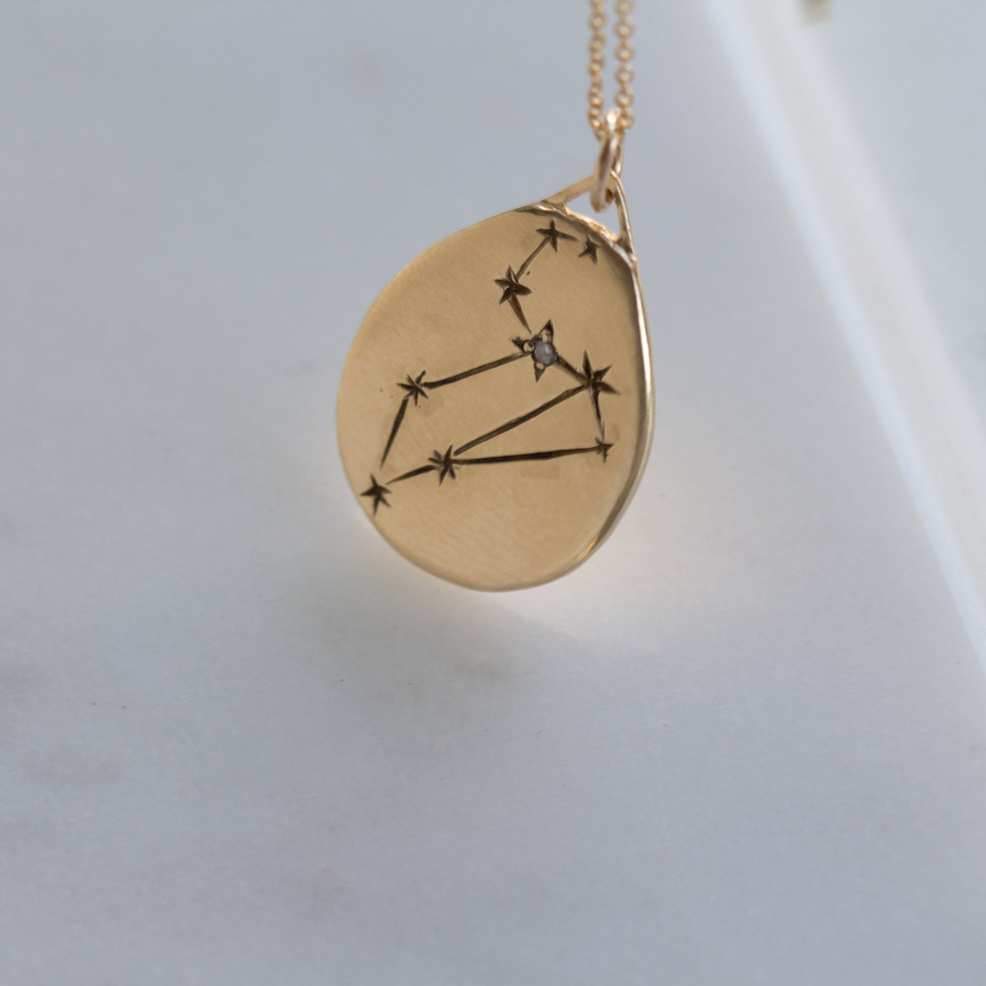 leo necklace, leo celestial necklace, celestial zodiac collection, 12th house jewelry, wear with love, ceremonial and celestial jewelry, jewelry for the zodiac lover, leo jewelry, holiday gift ideas for her, connect to your subconscious