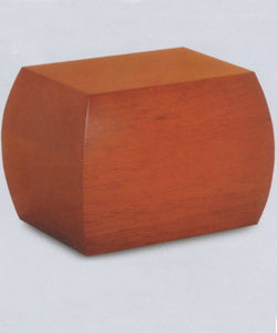 Honey Brown Cremation Urn Box - Side View