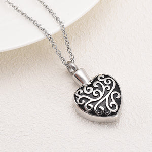 Heart Cremation Pendant - Close Up View