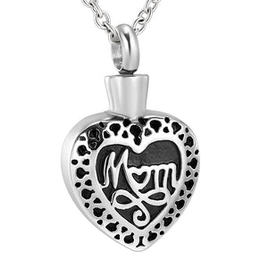 Close Up of Heart Portion With Mom Inscription