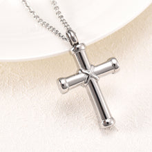 Load image into Gallery viewer, Cross Necklace For Ashes - Close Up View